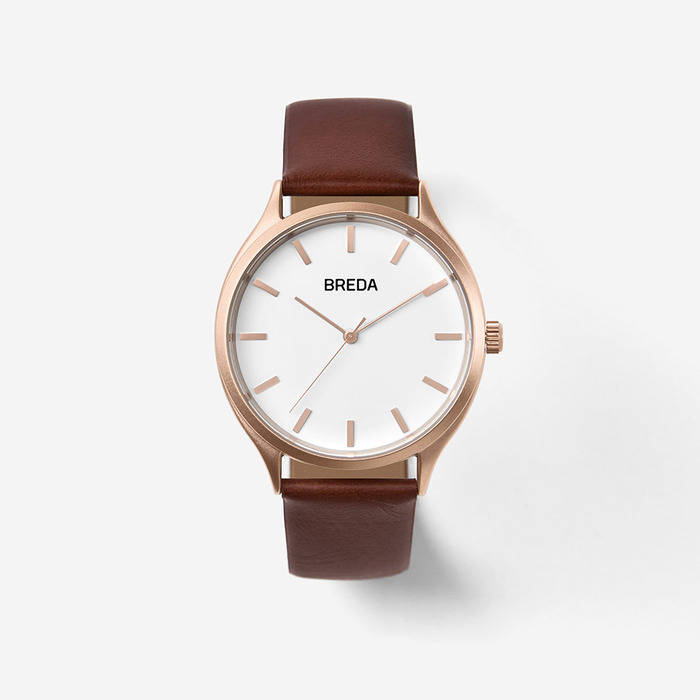브레다시계 Asper - Rosegold Brown